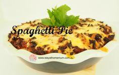 Spaghetti Pie   Stay At Home Mum