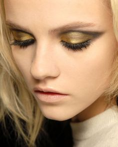 Lovely copper gold eyeshadow with black