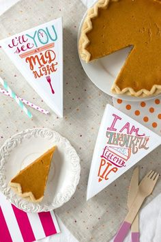 Free Printable Thanksgiving Pie Gift Box for Leftovers