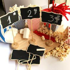 Pack de 10 pizarras con soporte de Dress My Cupcake from Oh! Naif