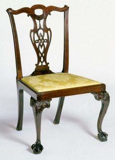 Side Chair; 1760-1785.  Unknown maker; Boston.  (1952.0242)