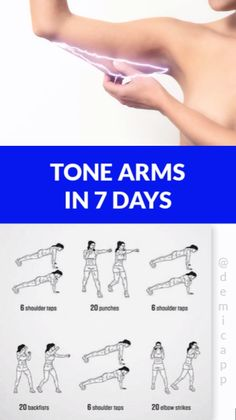 Arms In 7 Days Tone Arms In 7 Days! Get Ultimate Meal & Workout Plan!, - -Tone Arms In 7 Days Tone Arms In 7 Days! Get Ultimate Meal & Workout Plan!, - - 5 exercises t. 7 Day Workout Plan, Workout Routines For Women, Workout Challenge, Workout Plans, Slim Arms Workout, Workouts To Tone Arms, Band Workout For Arms, Arms And Back Workout At Home, Easy Arm Workout