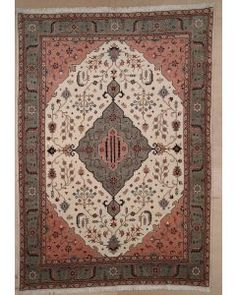 New Contemporary Persian Heriz Area Rug 1820 - Area Rug