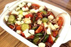 Receita de salada grega tradicional
