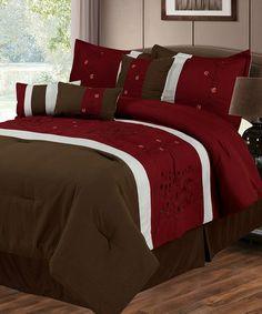 Love this Red Wine & Chocolate Sarah Lavish Home Comforter Set on #zulily! #zulilyfinds