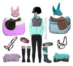 """Horseback riding sets: pink&purple or blue"" by walk-trot-canter ❤ liked on Polyvore featuring Musto, The North Face, Hunter and Comfort Products"