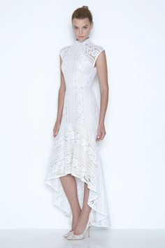 Pretty White Sleeveless Dress ... Lacy ... Shorter in front than in back FROM: lover wedding dresses003
