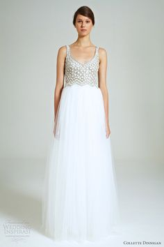 collette dinnigan bridal 2014 snow drops beaded bodice tulle gown
