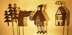 Great idea for kids entertainment.....    Papercut Shadow Puppets  Little Red Riding Hood by suowen on Etsy, $29.00