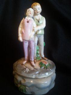 Price Imports Rotating Music Box Figurine Love Story Couple Vintage #love story #music box #vintage #Price Imports #luckieslea