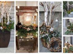 Zapomeňtě na klasický věnec na dveře: 30+ úžasných isnpirací, které stačí jen postavit před dveře a máte hotovo! Rustic Christmas, Christmas Wreaths, Ladder Decor, Plants, Craft Things, Home Decor, Xmas, Decoration Home, Primitive Christmas