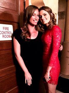 Stana Katic. Hot. Red. Dress.