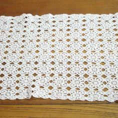 Vintage Crochet Table Runner