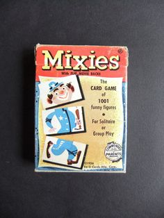 1956 Mixies Card Game the Flip Movie Backs 1956 by michiegoodsny