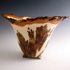 Lathe Turned Sugar Maple Burl Bowl by JLWoodTurning on Etsy