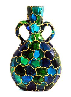 Olia Bseiso - Stained Glass, Wood Burning, and Embroidery Glass Bottle Crafts, Wine Bottle Art, Glass Bottles, Glass Painting Patterns, Glass Painting Designs, Mosaic Glass, Glass Art, Stained Glass Paint, Hand Painted Wine Glasses