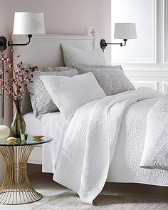Dream Quilt and Continental Shamx2, White