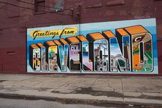 Greetings from Cleveland Ohio | Street art in Ohio City, off of Lorain Avenue