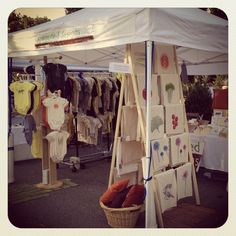 Sprouted Designs Farmer's Market Booth - Near St. Louis, MO #craft show #craft fair #booth display ideas