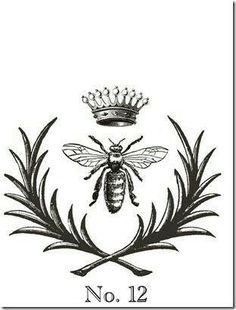 Most Popular Queen Bee Tattoo Design Crowns 20 Ideas Bee Images, Images Vintage, Vintage Bee, Vintage Prints, Vintage Country, Queen Bee Tattoo, Bumble Bee Tattoo, I Love Bees, Bee Art