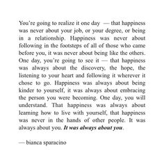 """3,469 Likes, 286 Comments - Bianca Sparacino (@rainbowsalt) on Instagram: """"Happiness was always about you. ✨"""""""