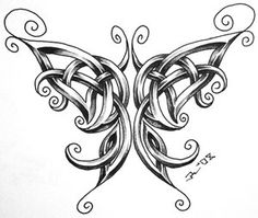 celtic butterfly by roblfc1892 Celtic Knot Butterfly Tattoo