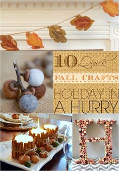 10 Easy Fall Crafts to Make - count me in!