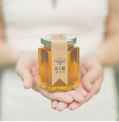 Cute favors! Jar some of the season's honey or jam - put y'alls initials on there and your wedding date