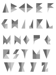 triangle shape font - Google Search