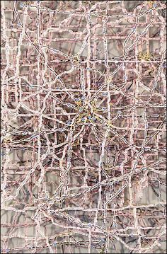 Brian Dettmer Altered States- Midwest 2005 Altered Maps, Plexi, Frame x x Image Courtesy of the Artist and Packer Schopf Collage Book, Book Art, Brian Dettmer, Book Journal, Map Art, Altered Books, Alters, Aerial View, Plexus Products