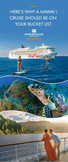 From Maui to Kauai, discover the Aloha Spirit of Hawaii! Witness the Kilauea Volcano or take in the views of the Napali Coast. Check out why you should cruise Hawaii. Hawaii Vacation, Vacation Places, Cruise Vacation, Hawaii Travel, Vacation Trips, Dream Vacations, Vacation Spots, Places To Travel, Places To Visit