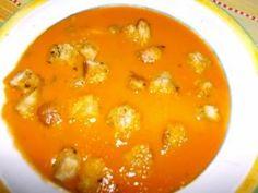 Chocolate     e       Caju: Sopa de corvina com alho françês