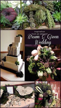 Wedding Decor- unexpected chic, modern, & organic! Beautiful!