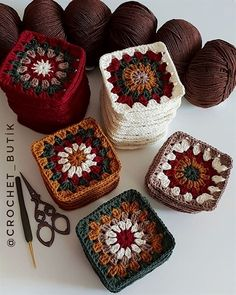 Transcendent Crochet a Solid Granny Square Ideas. Inconceivable Crochet a Solid Granny Square Ideas. Crochet Squares, Granny Square Crochet Pattern, Crochet Blocks, Crochet Motif, Crochet Stitches, Knit Crochet, Granny Squares, Crochet Puff Flower, Crochet Flower Patterns
