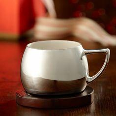 Silver Mug with Coaster, 14 fl oz. $9.95 at StarbucksStore.com