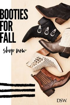 Discover booties on booties on booties at DSW. From embellished western to not-so-basic black, there is the perfect style for every outfit in your wardrobe.