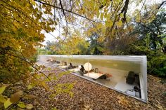 The architects Selgas Cano obviously understand the benefits of Biophilic Design as they have designed their own Madrid studio to literally immerse their employees into a woodland setting.
