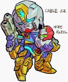 GUNDAM GUY: GUNDAM x MARVEL SUPER HEROES CABLE ZZ and HOPE ReZEL