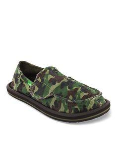 Look at this #zulilyfind! Green Camo Army Brat Slip-On Shoe - Kids by Sanuk #zulilyfinds