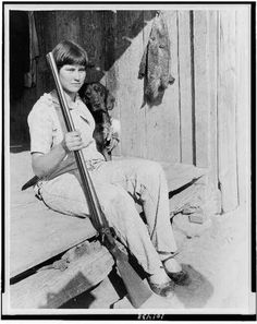 Proud father girl good as any boy farm helper hunter Ozark Foothills AR 1930 Father And Girl, Girl And Dog, Vintage Photographs, Vintage Photos, Old Portraits, Dust Bowl, Farm Boys, Vintage Farm, Photo Black