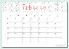 Blog F de Fifi: manualidades, imprimibles y decoración: Imprimible gratuito: calendario para febrero 2016