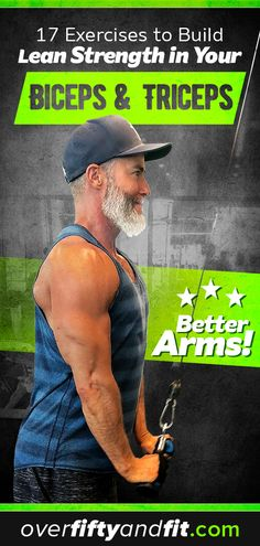 You can have better, healthier arms! You will build lean strength in your biceps and triceps if you exercise them strategically. This complete arm workout – comprised of 17 exercises – can be completed in under an hour. Do it once each week and you'll be Arm Workout No Equipment, Arm Workout Men, Bicep And Tricep Workout, Biceps And Triceps, Workout Women, Fat Workout, Men Exercise, Excercise, Trx