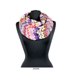 6-Pack: Printed Infinity Scarves - Assorted Styles