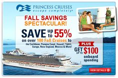 Save up to 55% on over 100 Fall cruises.  Call or click today to book your next Dream Vacation.  www.wgott.cruiseone.com