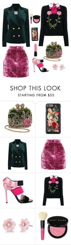 """""""Untitled #2354"""" by ebramos ❤ liked on Polyvore featuring Alexander McQueen, Dolce&Gabbana, Pierre Balmain, Topshop, Emilio Pucci, Gucci, Irene Neuwirth, Bobbi Brown Cosmetics and MAC Cosmetics"""