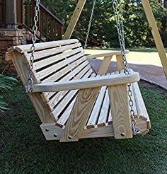 Ecommersify Inc ROLL BACK Amish Heavy Duty 800 Lb Porch Swing- Made in USA - Excellent product and best deal i could find. Fantastic service after the sale Modern Porch Swings, Backyard Swings, Backyard Patio, Outdoor Swings, Bench Swing, Patio Swing, Swing Seat, Backyard Projects, Wood Projects