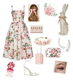 """Easter time"" by brooklyn-helton ❤ liked on Polyvore featuring Dolce&Gabbana, MCM, Francesca's, Forever 21, BillyTheTree, Essie and Marc Jacobs"