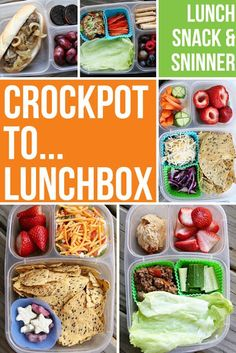Tons of Crockpot to Lunchbox idea!   packed in @EasyLunchboxes containers