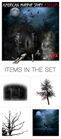 """""""American Horror Story: Asylum"""" by cjfdesign ❤ liked on Polyvore featuring art"""