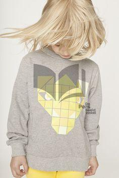 Shampoodle Pixel Sweater yellow print soon @purestarters.nl